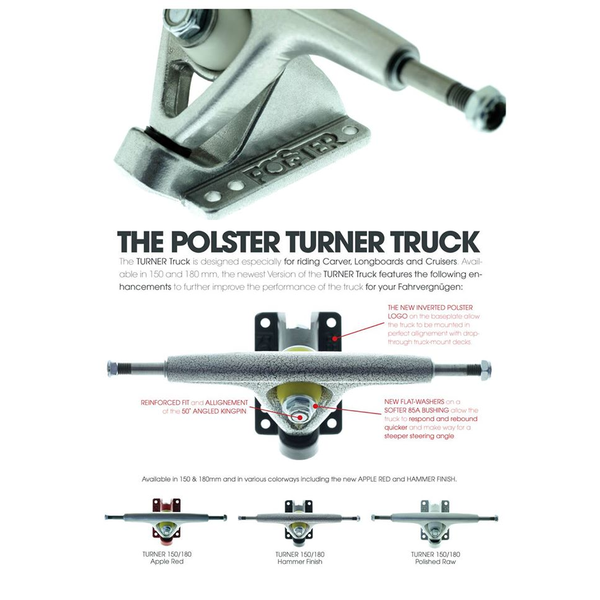 Polster Turner V2 Truck Set 150mm 50°