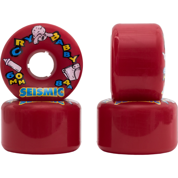 Seismic Cry Baby Wheels 60mm 84a Red