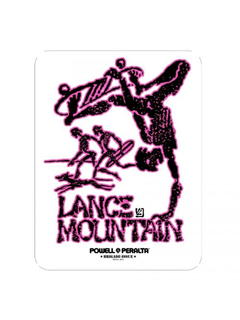 Powell & Peralta  Lance Mountain Sticker pink