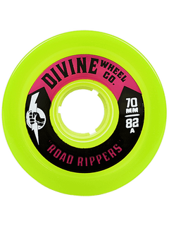 Divine Urethane Co  Road Rippers 70mm 82a Lime