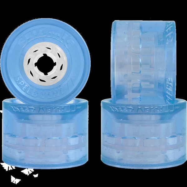 Seismic Speed Vent Wheels Clear 77mm 77a Clear Blue