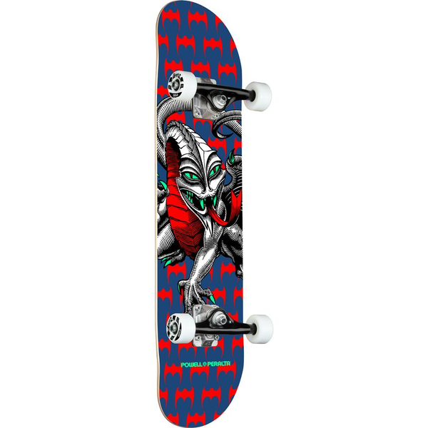 Powell & Peralta Cab Dragon One Off Navy Mini Complete Skateboard 7.5