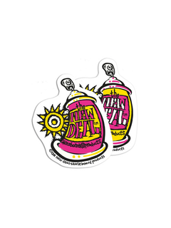 New Deal Skateboards Spray Can Sticker pink