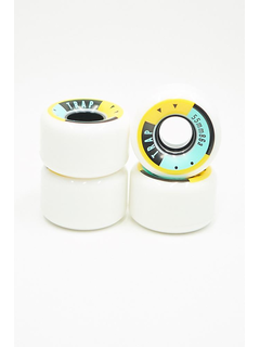 Trap Crewzer Wheels Yellow Black 55mm 86a
