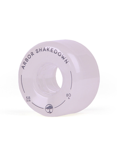 Arbor Shakedown wheels 58mm 80a ghost white