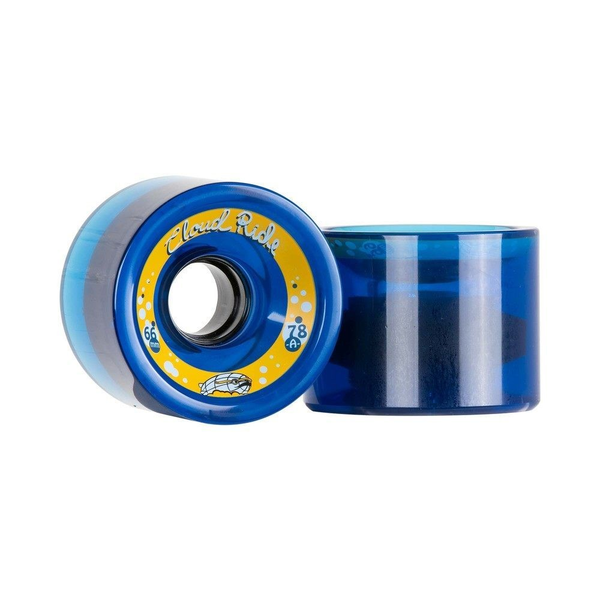 Cloud Ride Cruisers Clear Midnight Blue Wheels 66mm 78a