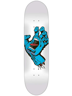 Santa Cruz Screaming Hand Deck white 8.25