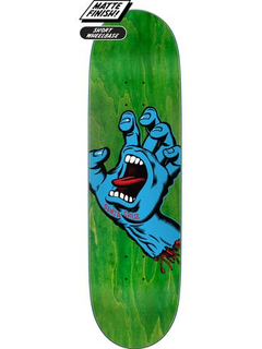 Santa Cruz Screaming Hand Deck green 8.8