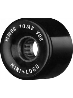 Mini Logo Wheels A.W.O.L. A-Cut II 59mm 80A black