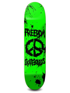 Freedom Skateboards Peace Paint Deck neon green