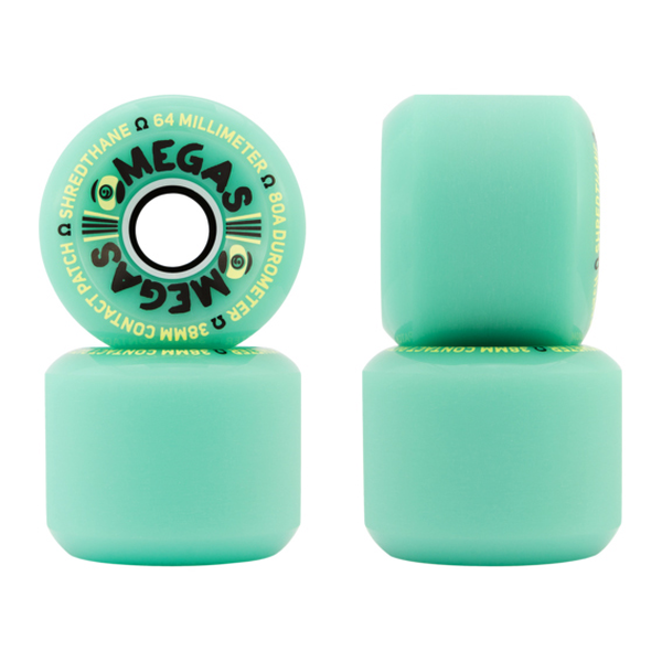 Sector9 Omegas Wheels 64mm 80a green