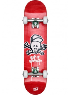 Mob Skateboard Skull complete kids 6.5 Red