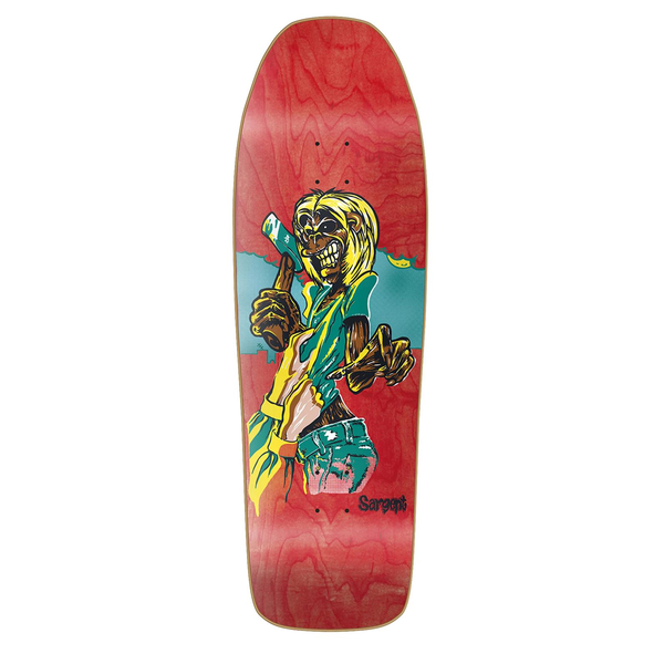New Deal Skateboards Sargent Killers Screenprinted Deck red