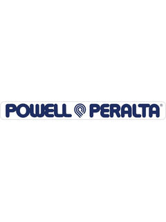 Powell & Peralta Strip 4 Sticker clear blue