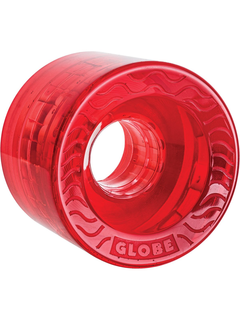 Globe Retro Flex Cruiser Wheels Clear Red 58mm 83a