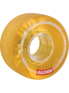 Globe Bruiser Cruiser Wheels Clear Honey 58mm 83a
