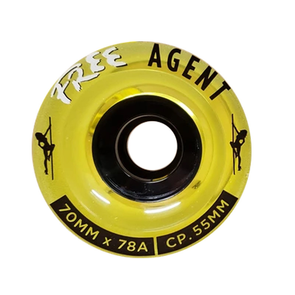Free Wheel Co. Agent Wheels 70mm 78a gold standard