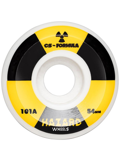 Hazard Wheels Radio Active CS: Conical White Wheels 58mm...