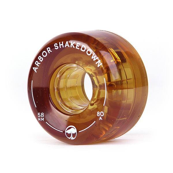Arbor Shakedown wheels 58mm 80a amber