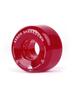 Arbor Shakedown wheels 58mm 80a vintage red