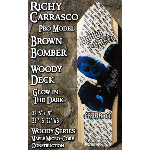 Sk8kings - Axe Woody Maple Series - Richy Carrasco Brown Bomber Pro Slalom Deck - 32.5 x 9