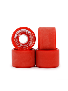 BTFL Longboards Rollen Set 65 x 47 mm - 78A - rot