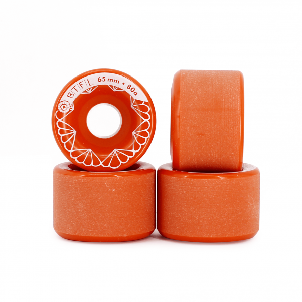 BTFL Longboards Rollen Set 65 x 45 mm - 80A - rot