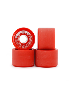 BTFL Longboards Rollen Set 70 x 51 mm - 78A - rot