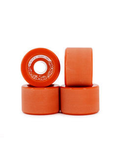 BTFL Longboards Rollen Set - 75 x 52 mm - 80A - rot