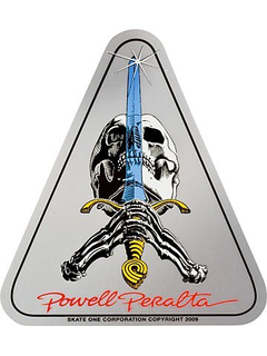 Powell & Peralta  skull&sword sticker
